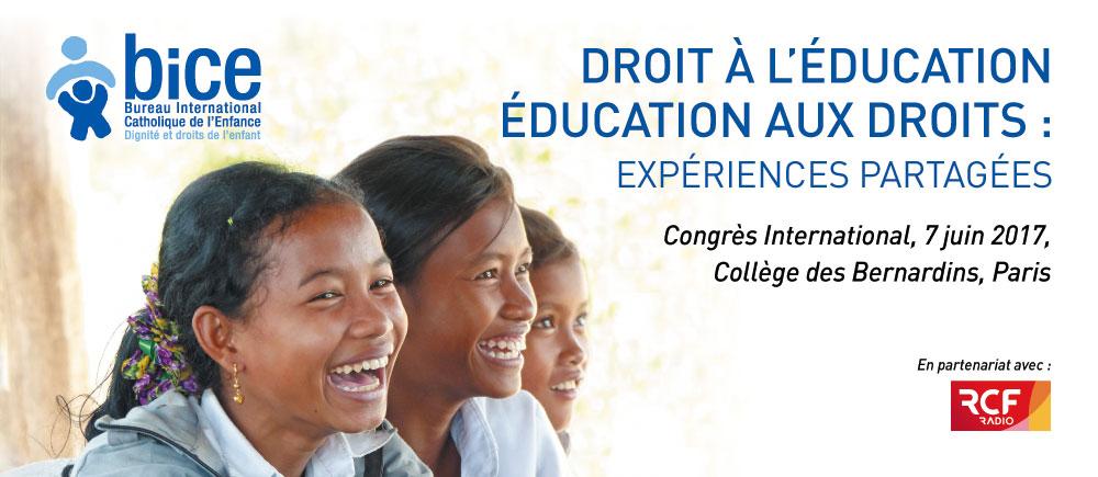 DROIT A L'EDUCATION - ÉDUCATION AUX DROITS : EXPERIENCES PARTAGEES