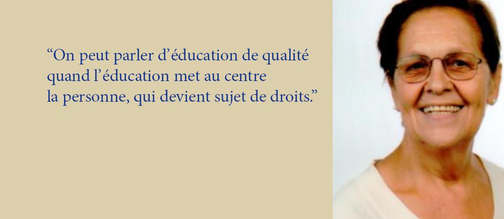 Pour Stefania Gandolfi, le droit à l'éducation est la clé d'accès aux autres droits