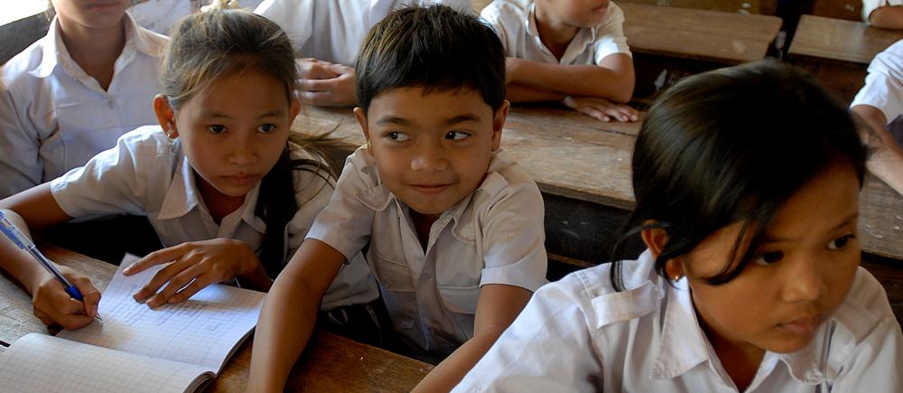 Education au Cambodge : l'accès pour les enfants des villages reculés