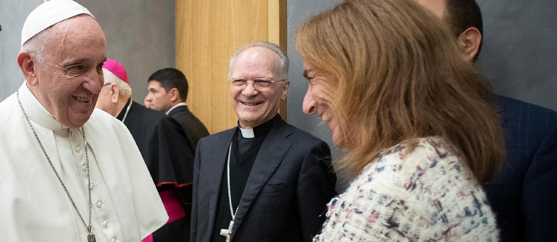 Université du Latran - le Pape François et Alessandra Aula