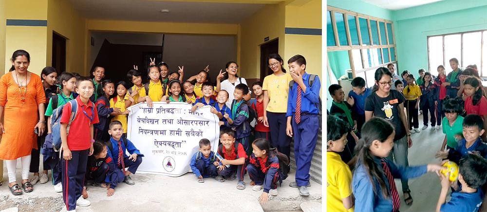 Népal accompagnement éducatif d'enfants vulnérables