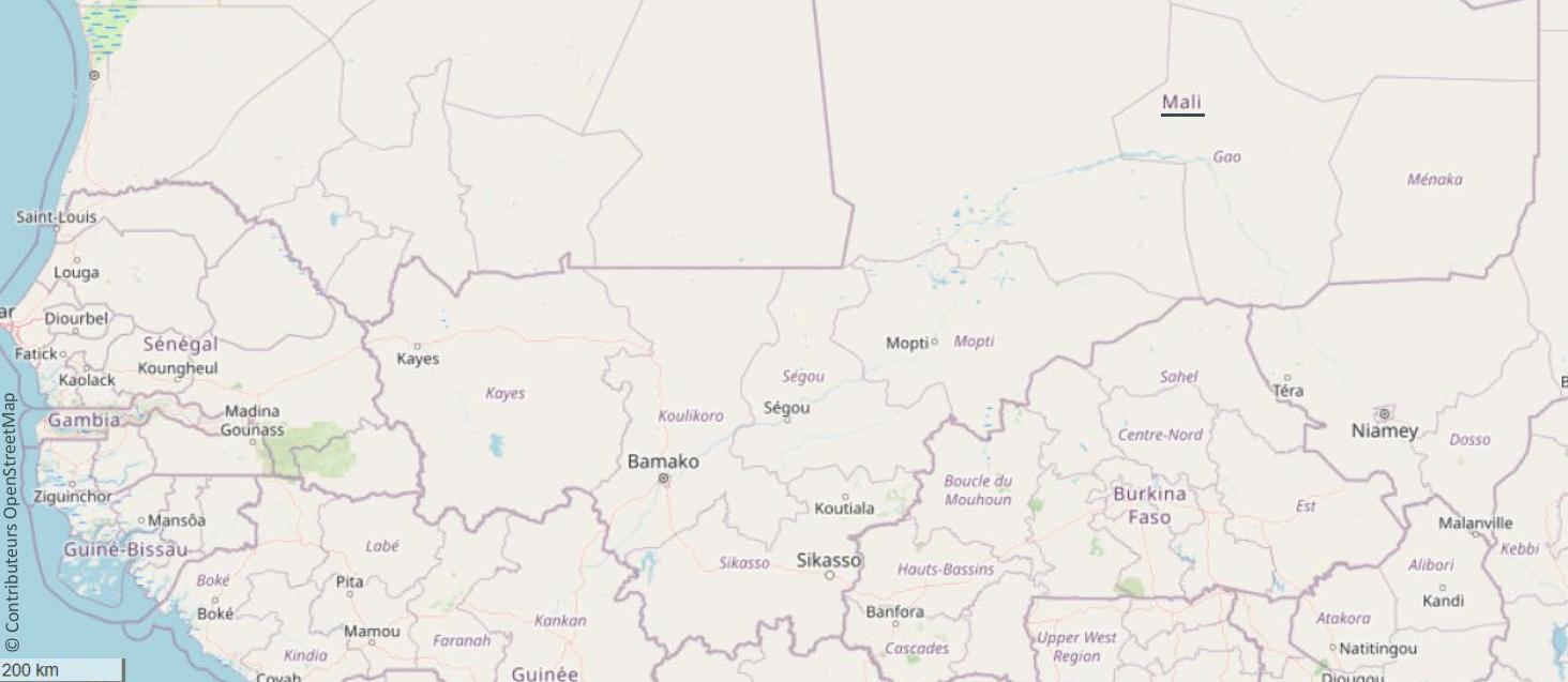 Carte Mali