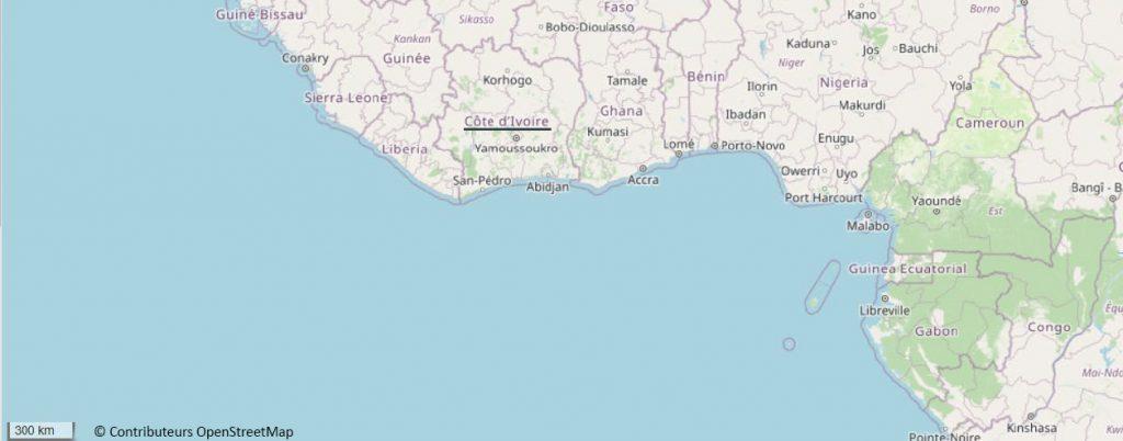Carte Côte d Ivoire