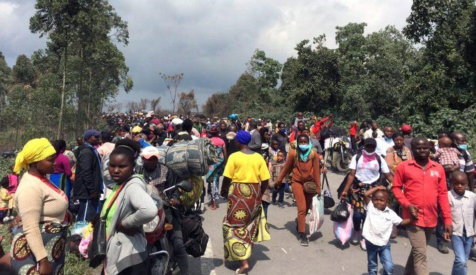 Evacuation de Goma - eruption volcan