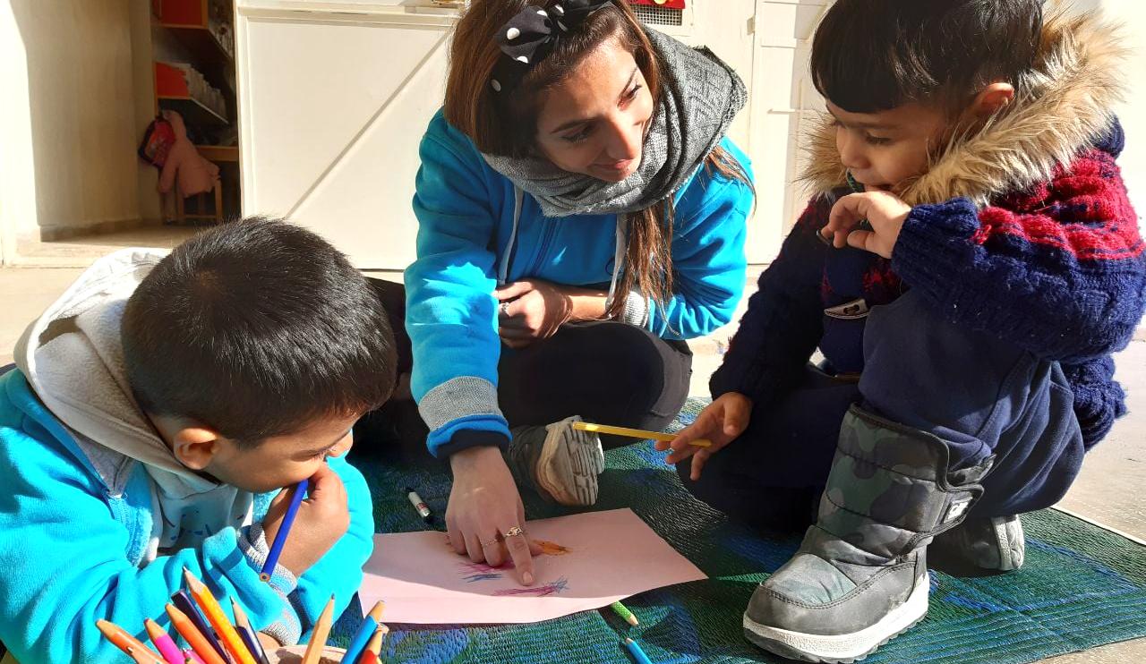 Syrie enfants école Maristes bleus