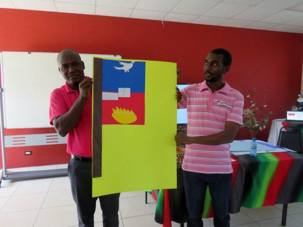 Haïti - atelier resilience drapeau