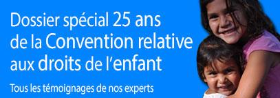 dossier spécial sur les 25 ans de la convention relative aux droits de l'enfant