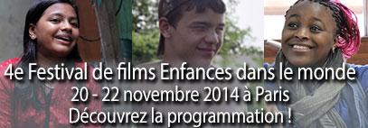 Festival de films documentaires enfance dans le monde du 20 au 22 novembre à Paris